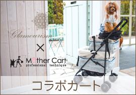 グラマーイズム(Glamourism)とマザーカートのコラボカートが新登場♪春のお出かけに犬用カート・犬用バギーで。近日発売!